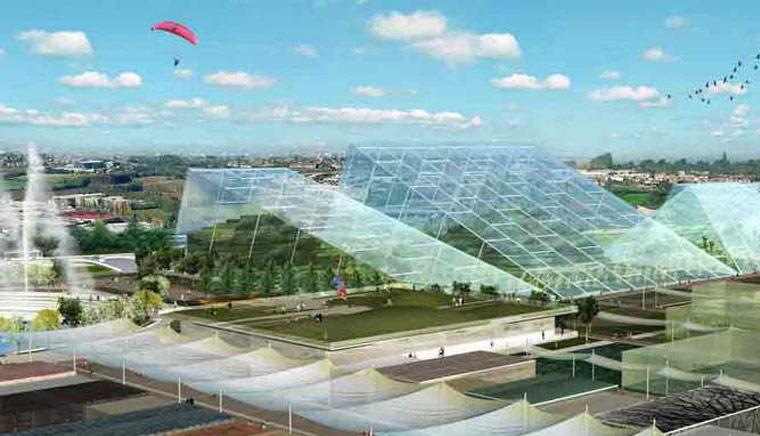 Expo 2015 с высоты птичьего полета