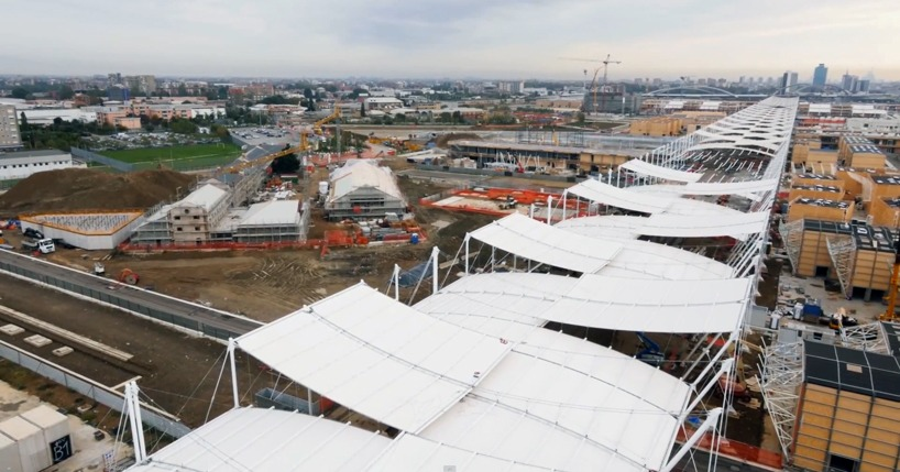 expo milano 2015 drone construction site designboom 02 - Expo 2015 с высоты птичьего полета