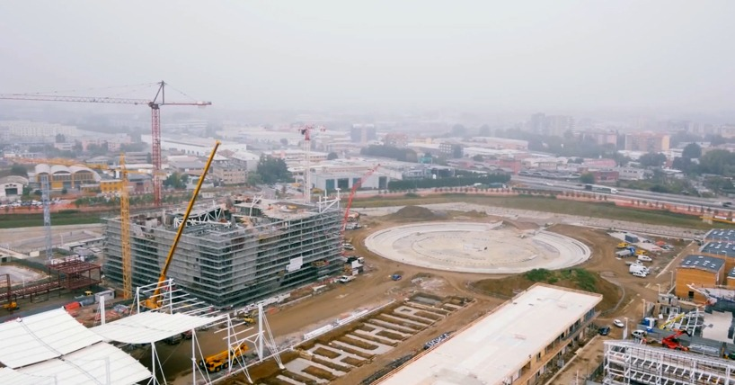 expo milano 2015 drone construction site designboom 03 - Expo 2015 с высоты птичьего полета