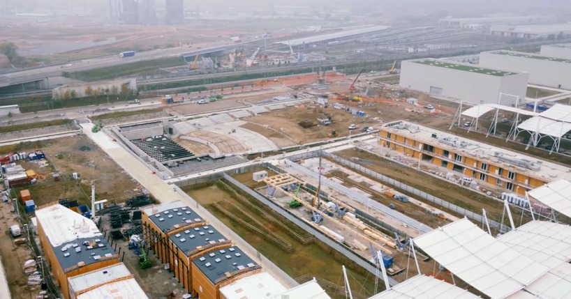 expo milano 2015 drone construction site designboom 05 - Expo 2015 с высоты птичьего полета