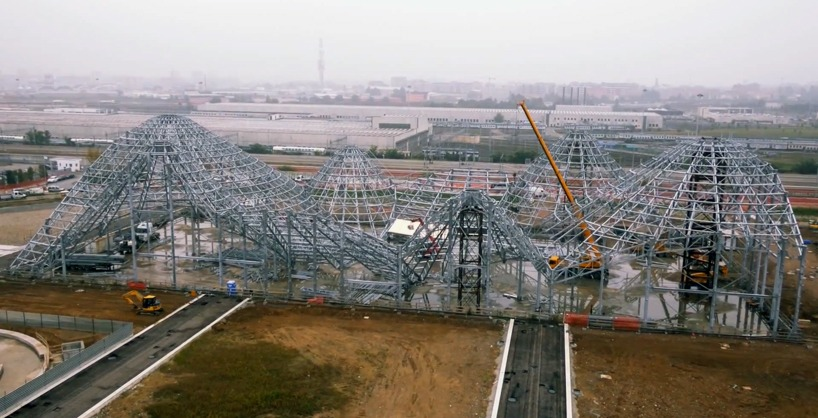 expo milano 2015 drone construction site designboom 07 - Expo 2015 с высоты птичьего полета