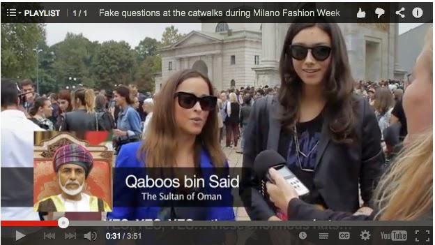 fake interwiew milano fashion week - Поддельные интервью во время Milano Fashion Week (продолжение)