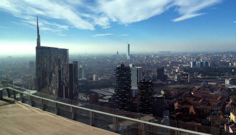 Панорама Милана с высоты 39 этажа