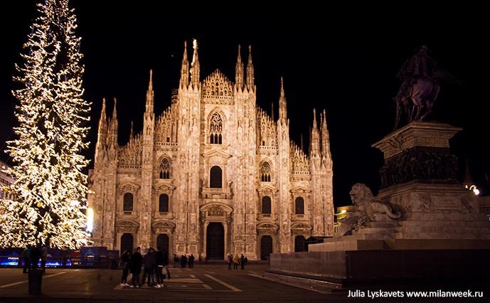 NY milanweek 05 - Новогодний Милан ночью