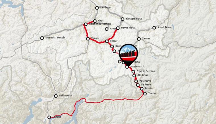 Маршрут Bernina Express