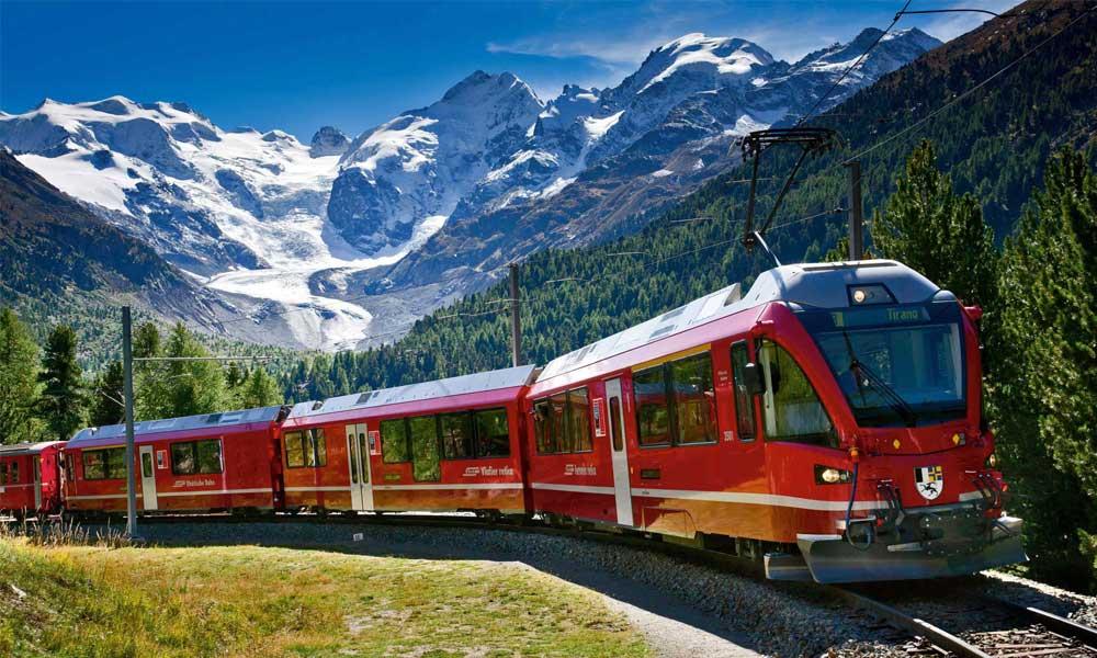 Bernina Express или красный швейцарский поезд