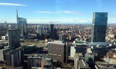 Панорама Милана с высоты 32 этажа