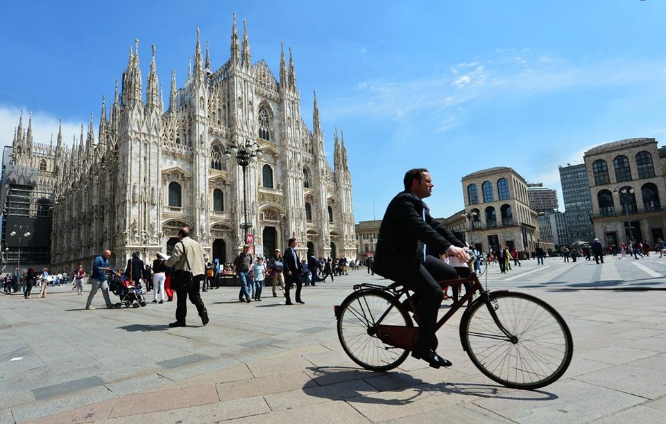 duomo sole - Готовь Bici к лету! Велопрогулка по Милану