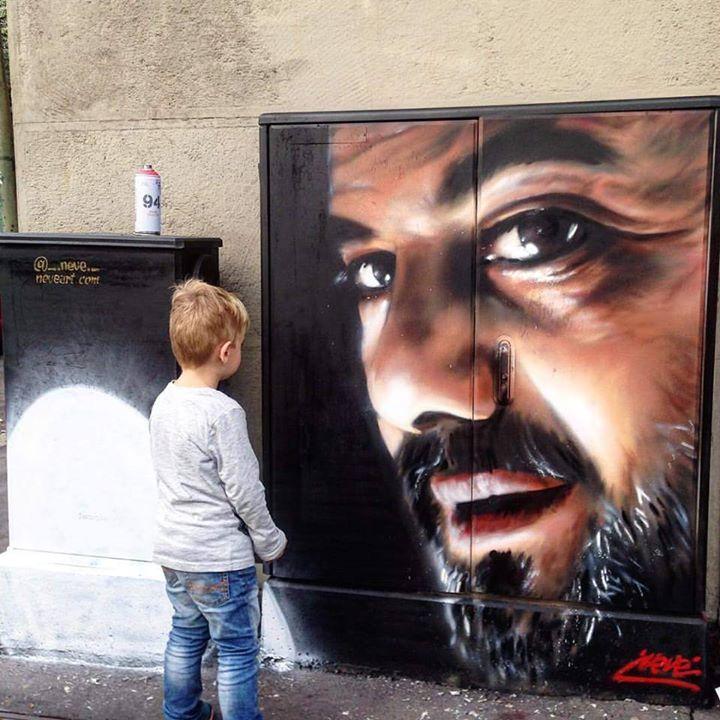 "Уличное искусство ""граффити"" в Милане ©energybox2015"