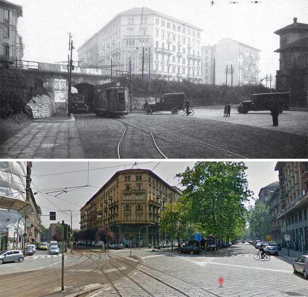 piazza maria adelaide1 - Фото Милана: в начале прошлого века и сейчас