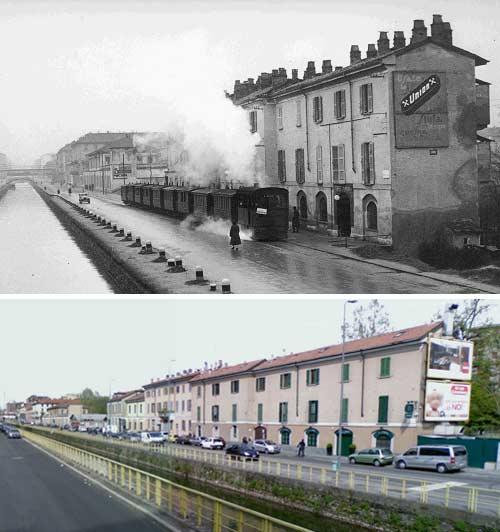 via ascanio sforza1 - Фото Милана: в начале прошлого века и сейчас