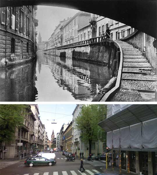 via fatebenefratelli via dei giardini1 - Фото Милана: в начале прошлого века и сейчас