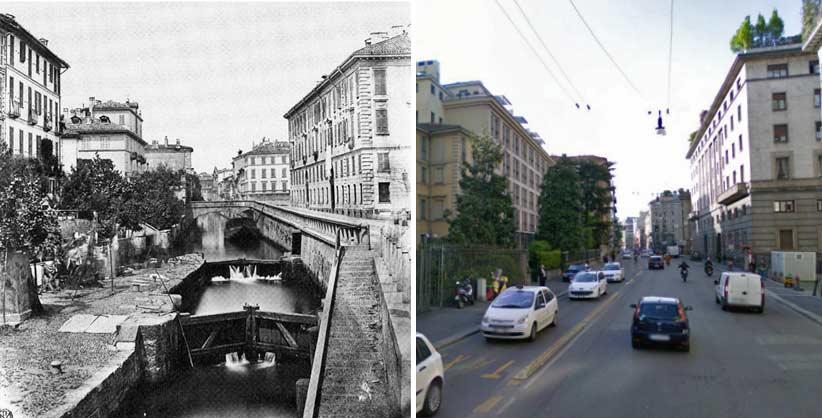via senato1 - Фото Милана: в начале прошлого века и сейчас