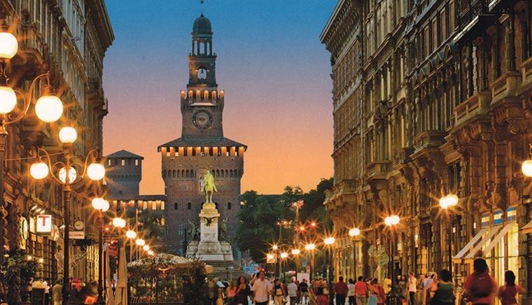 Новые места Милан впечатляющий