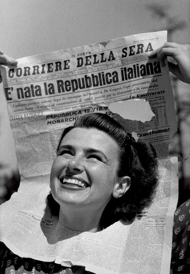 Federico Patellani  copertina di Tempo n 22 del 15 22 giugno 1946 - В Международный женский день Милан радует сюрпризами