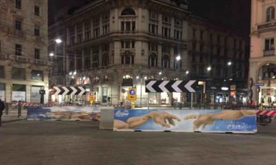 Милан ночная площадь Дуомо и граффити 400x240 - О, креативный Милан: ночная площадь Дуомо и граффити