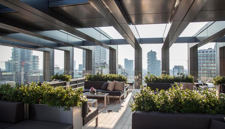 Rooftop Bar La Gare Hotel Milano 2 - 11 самых красивых террас Милана