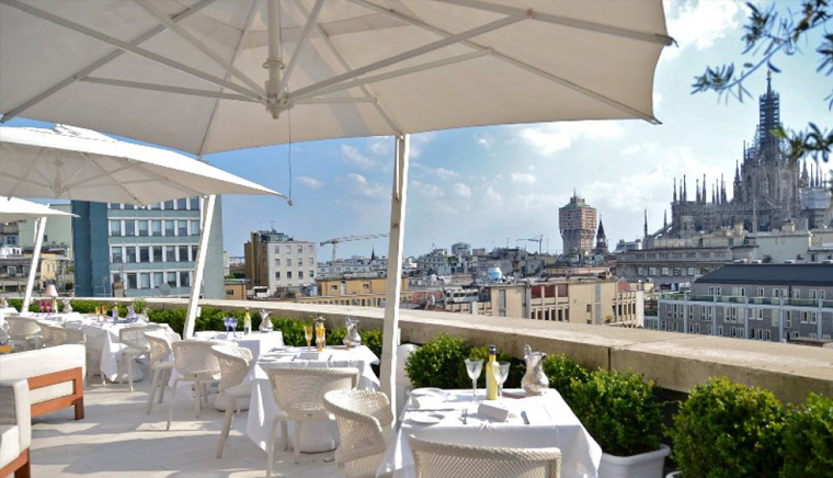 terrazza boscolo hotel 2 1 - 11 самых красивых террас Милана
