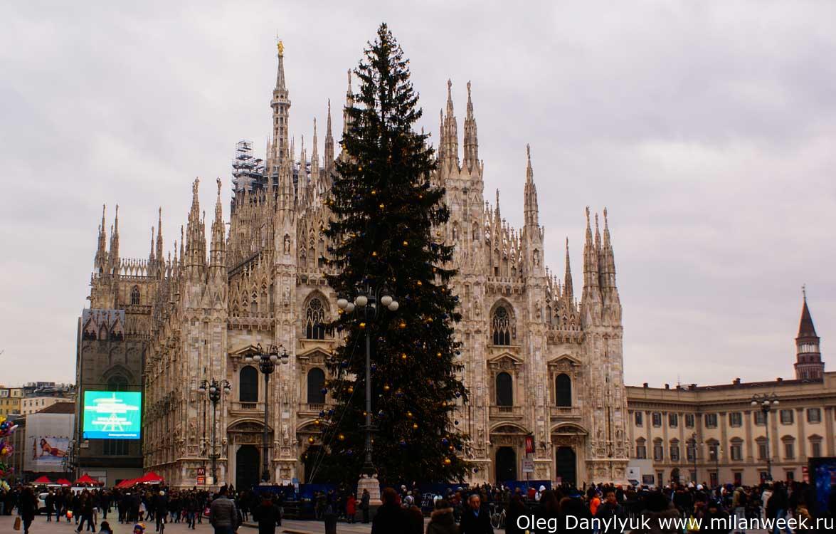 Елка у Duomo di Milano