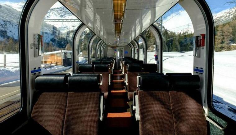 класс Glasier Express - Bernina Express или красный швейцарский поезд