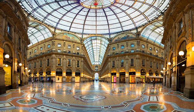 """galleria02 - Единственные в мире """"семь звезд"""" достались Миланской гостинице """"Seven Stars Galleria"""""""