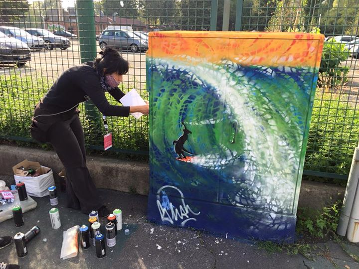 Граффити от Shah в Милане ©energybox2015