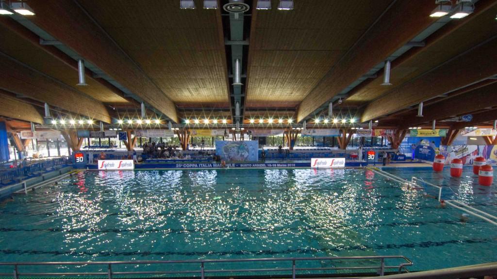 бассейн для финала Кубка Италии по водному поло