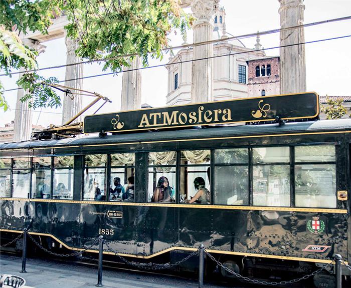 Новые места Милан вагон-ресторан