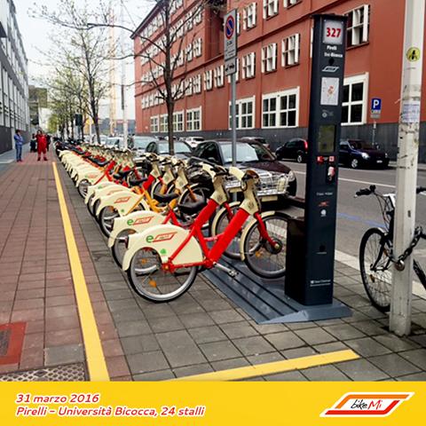 велопрокат BikeMi велосипеды в Милане