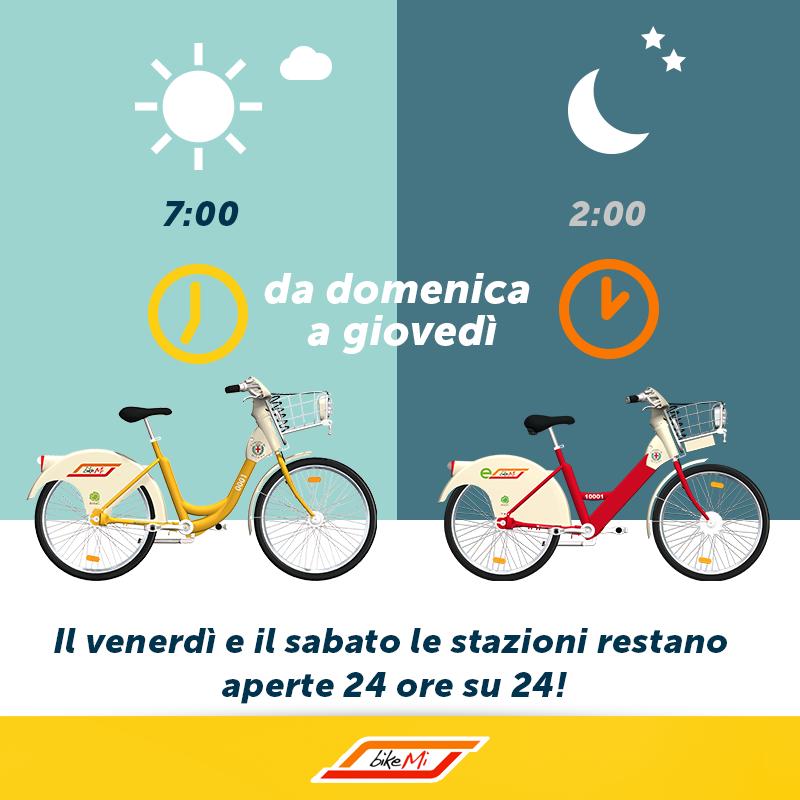 BikeMi велосипеды милана - Велопрокат BikeMi теперь доступен и ночью