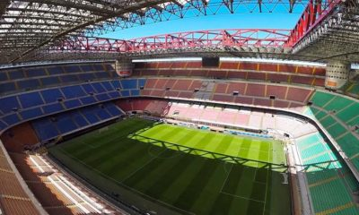 Стадион San Siro. Вид сверху