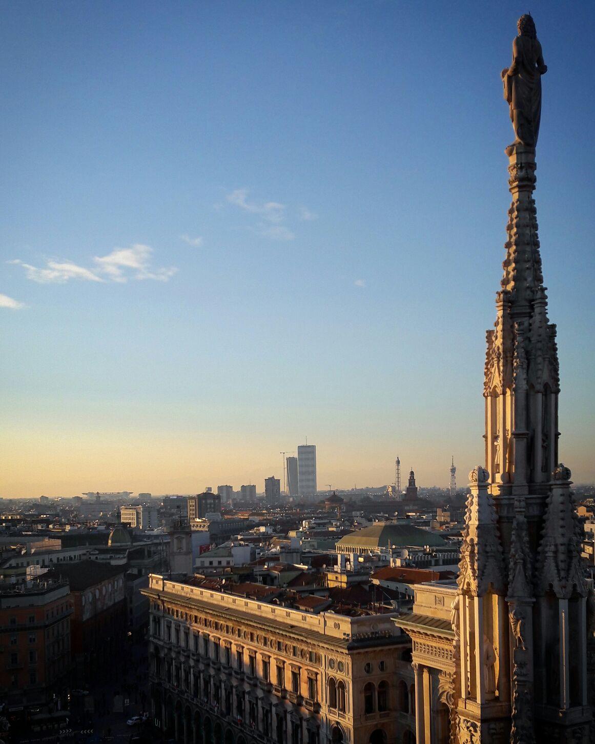 с крыши дуомо - Взгляд на Милан в фотообъектив от Арины Карабановой