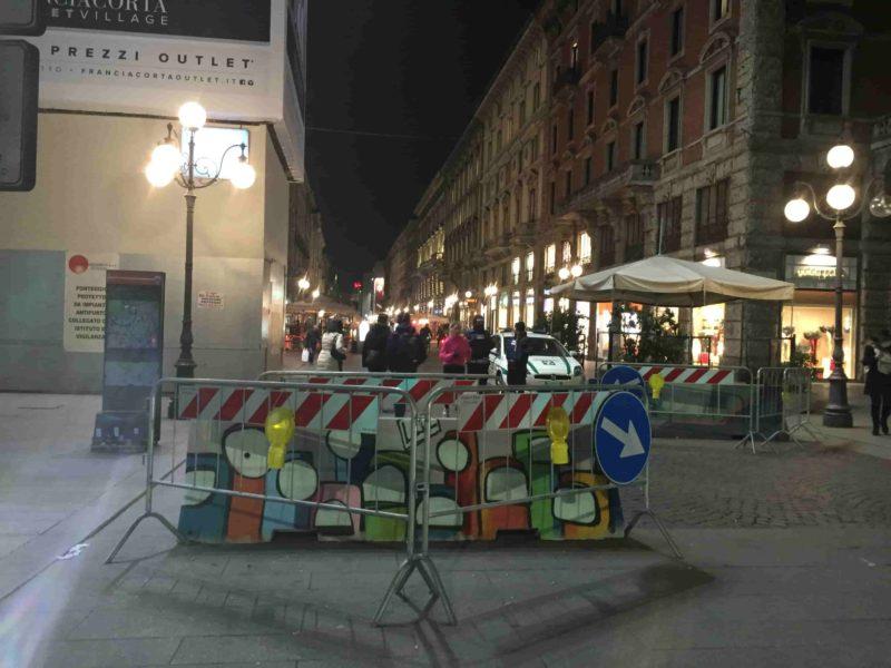 граффити Милана на улице Данте