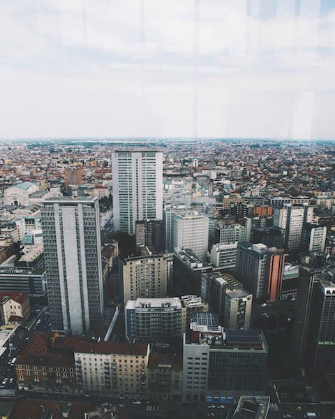 на милан с небоскреба 480x600 - Милан в фотообъективе Ксении Соколовой