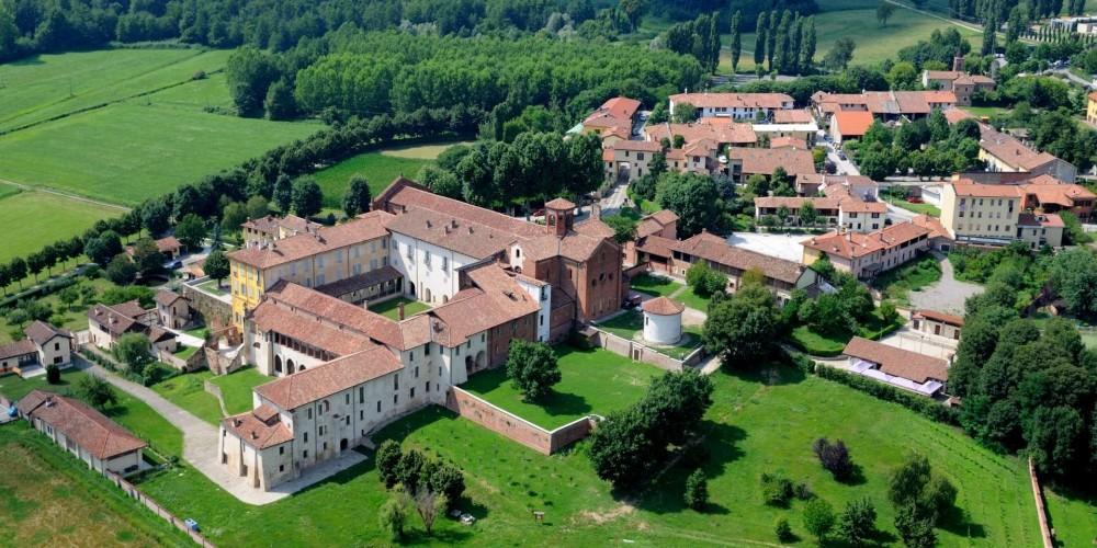 зелёные парки в окрестностях Милана abbazia